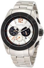 ハウレックス 時計 Haurex Italy Mens 0D366USN Aston Chronograph Black PVD Bezel Steel Bracelet Sport