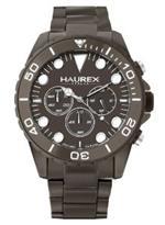 ハウレックスイタリア 時計 Haurex Mens 0K374UGG Ink Chrono Grey Aluminum Watch