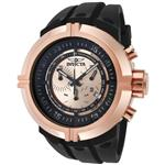 インヴィクタ 時計 Invicta Mens 0849 Force Collection Chronograph Rose Dial Black Polyurethane Watch