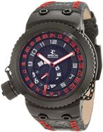 インヴィクタ 時計 Invicta Mens 10011BBB Russian Diver Reserve GMT Black Dial Black Leather Watch