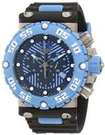 インヴィクタ 時計 Invicta Mens 10041 Subaqua Nitro Diver Chronograph Black and Blue Dial Watch