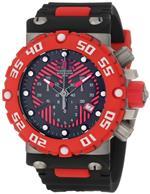 インヴィクタ 時計 Invicta Mens 10037 Subaqua Nitro Diver Chronograph Black and Red Dial Watch