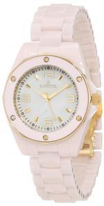 インヴィクタ 時計 Invicta Womens 10260 Ceramics White Mother-Of-Pearl Dial Pink Ceramic Watch