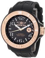インヴィクタ 時計 Invicta Mens 1072 Sea Hunter Automatic Black Dial Black Rubber Watch