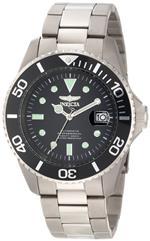 インヴィクタ 時計 Invicta Mens 0420 Pro Diver Automatic Black Dial Titanium Watch