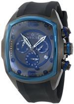 インヴィクタ 時計 Invicta 10066 Lupah Revolution Gun Metal and Blue Mens Watch