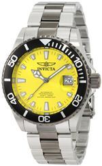 インヴィクタ 時計 Invicta Mens 10495 Pro Diver Automatic Yellow Dial Two Tone Stainless Steel Watch