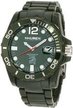 ハウレックスイタリア 時計 Haurex Italy Mens V7354UVV Caimano Date Green Dial Plastic Sport Watch