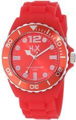 ハウレックス 時計 H2X Mens SR382UR1 Reef Luminous Water Resistant Red Soft Rubber Watch