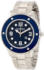 ハウレックスイタリア 時計 Haurex Italy Womens 7D371DBB Vivace Teal Dial Stainless Steel Date Watch