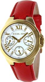 マイケルコース 時計 Michael Kors Camille Red Leather Multifunction Watch MK2321