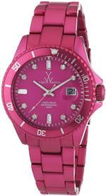 トイウォッチ 時計 ToyWatch Metallic Watch ME06PS Pink Aluminium Watch Date Display Rotating Bezel