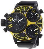 ウェルダー 時計 Welder Unisex 6501 K37 Oversize Three Time Zone Chronograph Watch