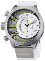 ウェルダー 時計 Welder by U-Boat K38 Oversize Chronograph Steel Unisex Watch White Rubber Strap