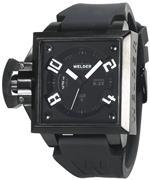 ウェルダー 時計 Welder Mens K25-4103 K25 Analog Black Ion-Plated Stainless Steel Square Watch