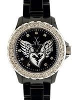 トイウォッチ 時計 Tattoo Watch Collection - Winged Heart - Black