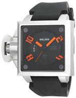 ウェルダー 時計 Welder Mens K25B-4400 K25B Analog Stainless Steel Square Watch