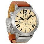 ユーボート 時計 U Boat Classico Beige Dial Sterling Silver Mens Watch 6918