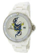 トイウォッチ 時計 Womens Toywatch White Butterfly Tattoo Watch TF01WH