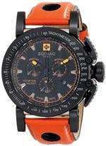 <img class='new_mark_img1' src='https://img.shop-pro.jp/img/new/icons8.gif' style='border:none;display:inline;margin:0px;padding:0px;width:auto;' />ゾディアック 時計 Zodiac ZMX Mens ZO8566 quotRacerquot Analog Display Swiss Quartz Orange Watch