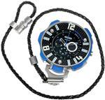 ウェルダー 時計 Welder by U-boat K41 Oversized Pocket Watch Chronograph Steel Mens Blue K41-101