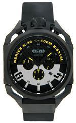 ウェルダー 時計 Welder by U-boat K36 Chronograph Black Ion-Plated Steel Mens Watch Rubber Strap