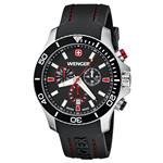 ウェンガー 時計 Wenger Sea Force Chrono Watch for Men Black Dial/Black Bezel/Black Silicone Strap -<img class='new_mark_img2' src='https://img.shop-pro.jp/img/new/icons6.gif' style='border:none;display:inline;margin:0px;padding:0px;width:auto;' />