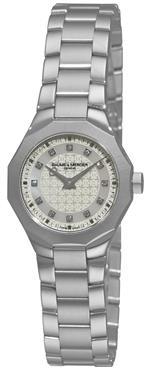 ボームメルシエ 時計 Baume amp Mercier Womens 8715 Riviera Mother-Of-Pearl Diamond Dial Watch