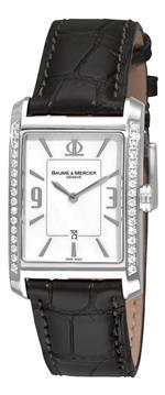 ボームメルシエ 時計 Baume amp Mercier Mens A8811 Hampton Classic Mother-Of-Pearl Dial Diamond Watch