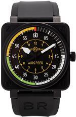 ベルアンドロス 時計 Bell amp Ross Aviation Flight Instruments Mens Black PVD Automatic Watch BR 01