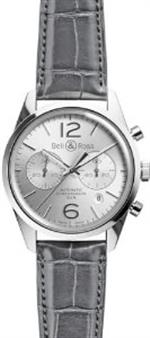 ベルアンドロス 時計 Bell and Ross Vintageicer Silver Dial Stainless Steel Grey Leather Mens Watch<img class='new_mark_img2' src='https://img.shop-pro.jp/img/new/icons34.gif' style='border:none;display:inline;margin:0px;padding:0px;width:auto;' />