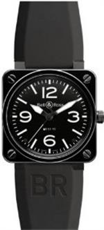 ベルアンドロス 時計 Bell amp Ross Br 01-92 Automatic Watch Br01-92-Black-Ceramic