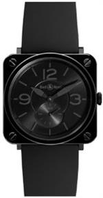 ベルアンドロス 時計 Bell and Ross Phantom Black Dial Ceramic Mens Watch BRS-BLC-PH/SBR