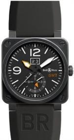 ベルアンドロス 時計 Bell amp Ross Br03-90 Automatic Watch Br-03-51-Gmt-Carbon
