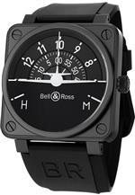 ベルアンドロス 時計 Bell amp Ross Aviation Flight Instruments Mens Automatic Watch BR 01 Turn