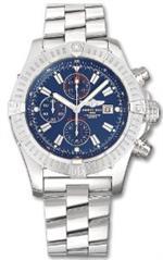 ブライトリング 時計 Breitling Super Avenger Blue Stainless Steel Mens Watch A1337011-C757