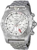 ブライトリング 時計 Breitling Mens AB041012/G719SS Silver Dial Chronomat GMT Watch<img class='new_mark_img2' src='https://img.shop-pro.jp/img/new/icons4.gif' style='border:none;display:inline;margin:0px;padding:0px;width:auto;' />