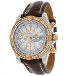 ブライトリング 時計 Breitling Evolution 18k Rose Gold Plated Factory Diamond Automatic Mens Watch