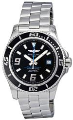 ブライトリング 時計 Breitling Mens A17391A8-BA79SS Superocean 44 Black Dial Watch