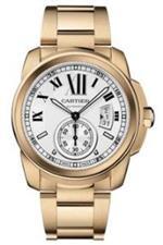 カルティエ 時計 Cartier Calibre de Cartier Silver Dial 18K Rose Gold Automatic Mens Watch W7100018<img class='new_mark_img2' src='https://img.shop-pro.jp/img/new/icons37.gif' style='border:none;display:inline;margin:0px;padding:0px;width:auto;' />