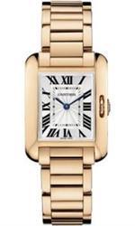 カルティエ 時計 Cartier Tank Anglaise Silver Dial 18kt Rose Gold Ladies Watch W5310013