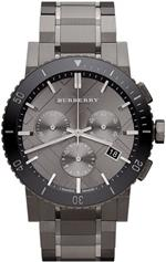 バーバリー 時計 Burberry Grey Ion Chronograph Mens Watch BU9381