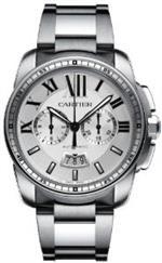 カルティエ 時計 Cartier Calibre de Cartier Silver Dial Chronograph Automatic Mens Watch W7100045<img class='new_mark_img2' src='https://img.shop-pro.jp/img/new/icons35.gif' style='border:none;display:inline;margin:0px;padding:0px;width:auto;' />