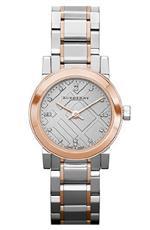バーバリー 時計 Burberry Heritage Grey Dial Two-tone Stainless Steel Ladies Watch BU9214