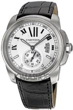 カルティエ 時計 Mens Calibre De Cartier Automatic Light Silver Dial Black Alligator<img class='new_mark_img2' src='https://img.shop-pro.jp/img/new/icons37.gif' style='border:none;display:inline;margin:0px;padding:0px;width:auto;' />