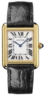 カルティエ 時計 Cartier Tank Solo Ladies Gold amp Steel Watch W5200002