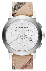 <img class='new_mark_img1' src='https://img.shop-pro.jp/img/new/icons5.gif' style='border:none;display:inline;margin:0px;padding:0px;width:auto;' />バーバリー 時計 Burberry BU9360 Watch City Mens - Silver Dial Stainless Steel Case Quartz Movement