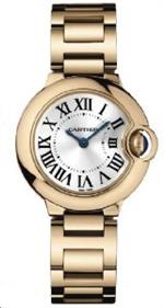 カルティエ 時計 Cartier Ballon Bleu 18kt Pink Gold Small Ladies Watch W69002Z2
