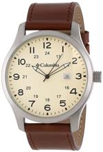コロンビア 時計 Columbia Mens CA077220 Fieldmaster II Large Analog Brown Leather Strap Watch