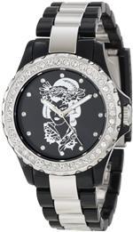 エドハーディー 時計 Ed Hardy Womens VX-BK Vixen Black Watch